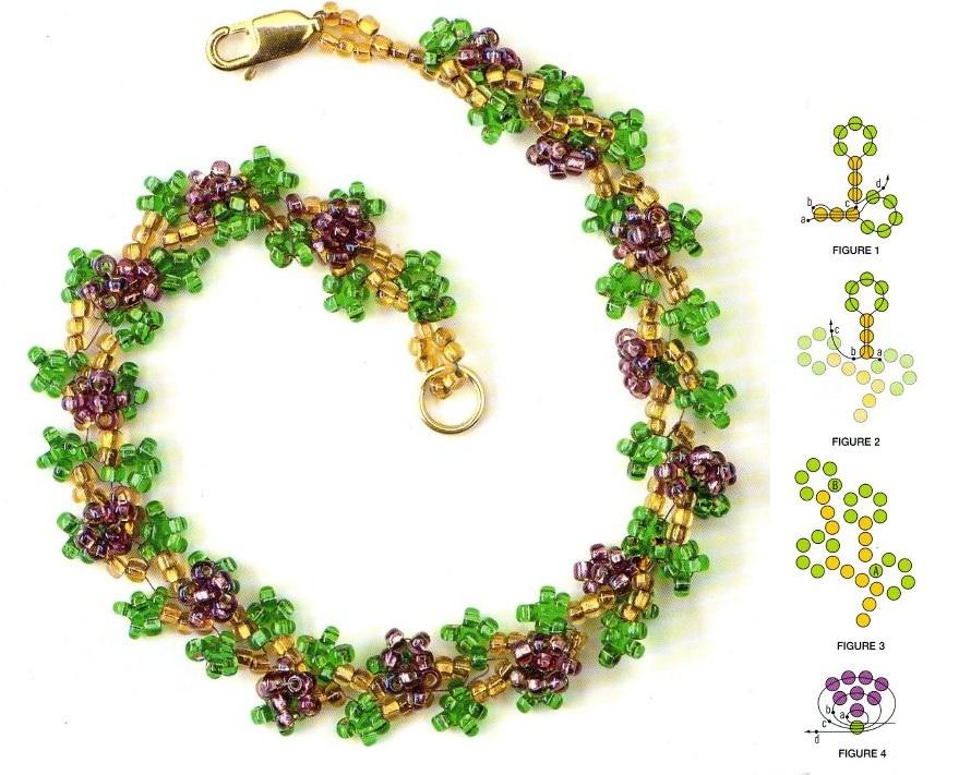 Сама схема колье и ожерелья из бисера.