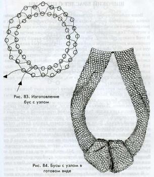 украшение из бисера с узлом