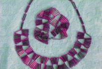 браслет и колье из стекляруса
