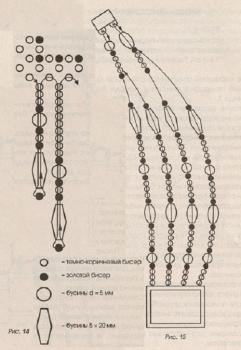 схема кулона-колье из бисера
