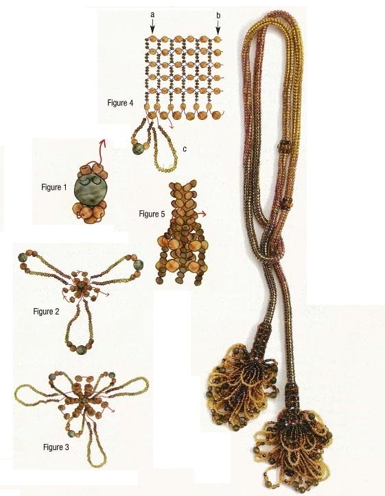 схема плетения украшения с кисточками