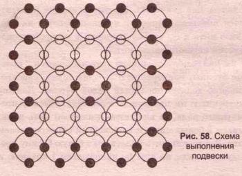 подвеска из кристаллов