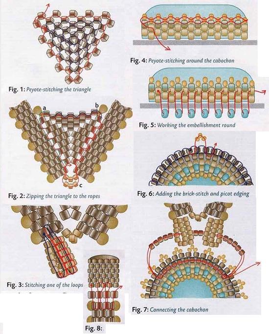 схема кулона с кабошоном