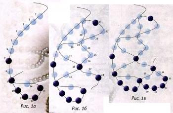 схема плетения колье из бисера