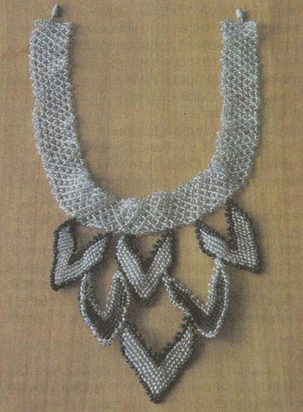 """Схема ожерелье  """"Строгий стиль """" ."""