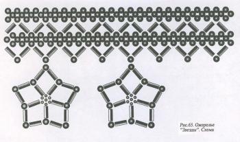 схема колье и серег черного цвета
