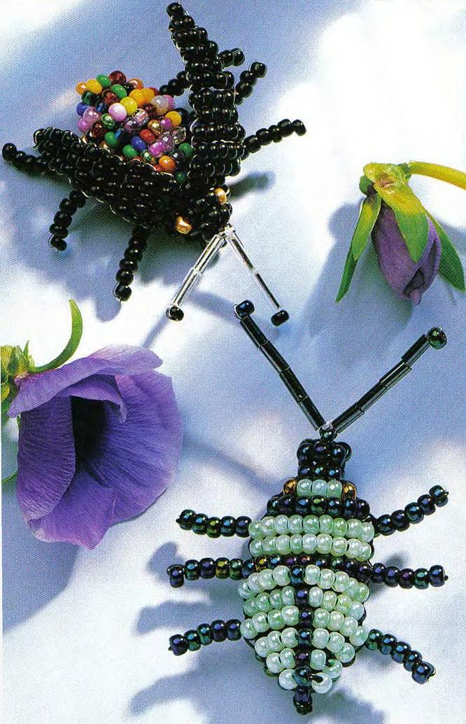 Зеленый жук Объемный жук