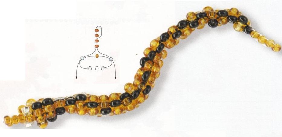 Предпросмотр - Схема вышивки Девушка и змея - Схемы автора gangan.