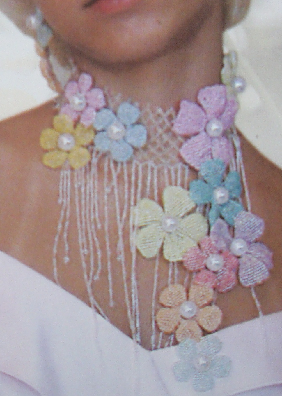 схема плетения разных цветов