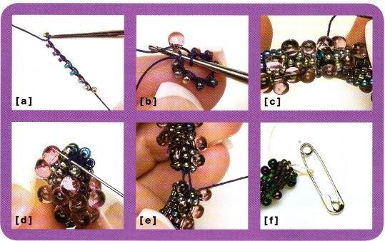 Схема браслетов из бисера. плетение украшений.  Бисер.