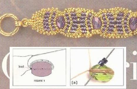 Схема плетения нежного колье