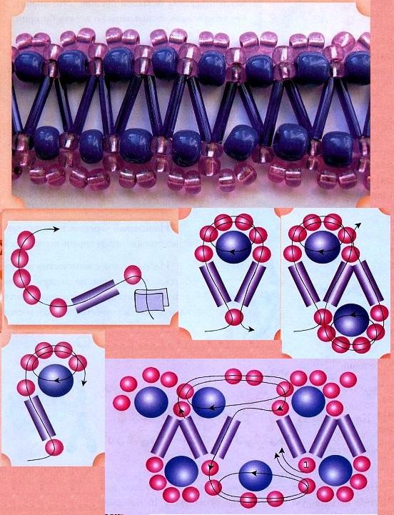 14 сен 2012 Плетение из бисера фенечки из цветов. показана схема плетения из бисера фенечки из цветочков...