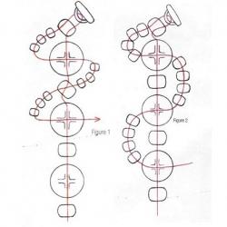 схема браслетов змейкой