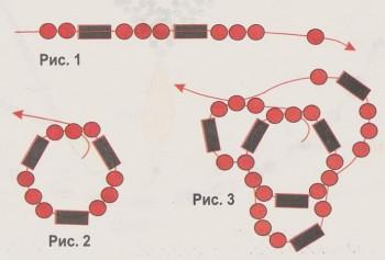 схема плетения браслета жгута