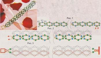 схема плетения простого браслета