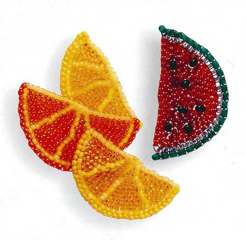 фруктовые дольки из бисера