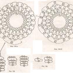 схема брелка вишни из бисера