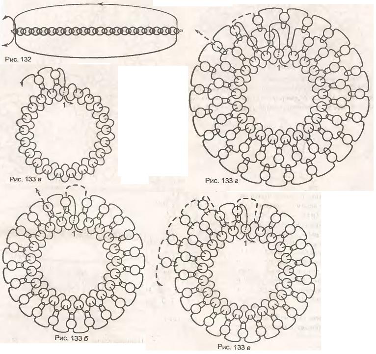 схема плетения вишни