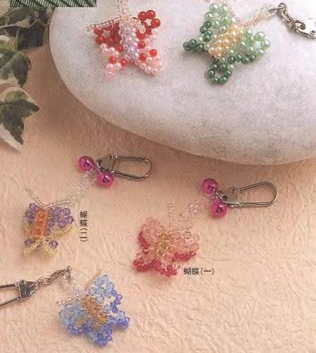 красивые аксессуары из бусин - бабочки