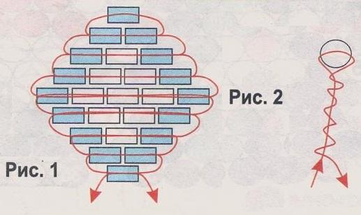 схема цветов из голубой рубки. схема голубых цветов из бисера.