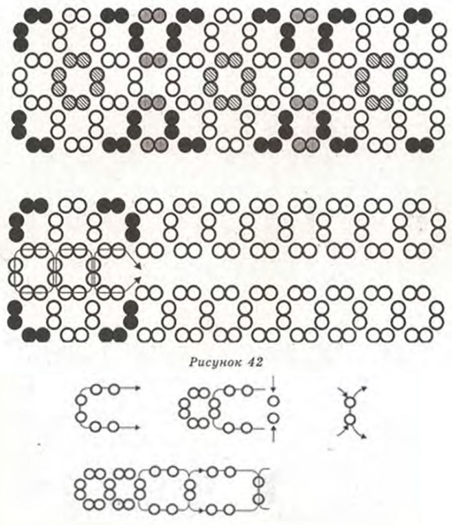 сетка-фенечка из бисера. схема плетения фенечки из бисера.