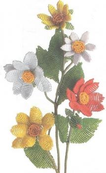 Роза из бисера Цветы из бисера - Всё из бисера и о бисере.