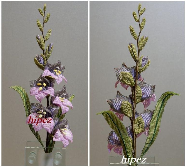 Цветы из бисера ГЛАДИОЛУСЫ
