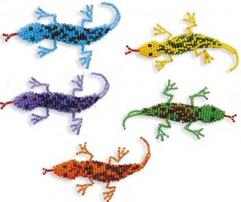 объемные сувениры ящерки из бисера