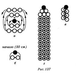 схема плетения карандаша из бисера