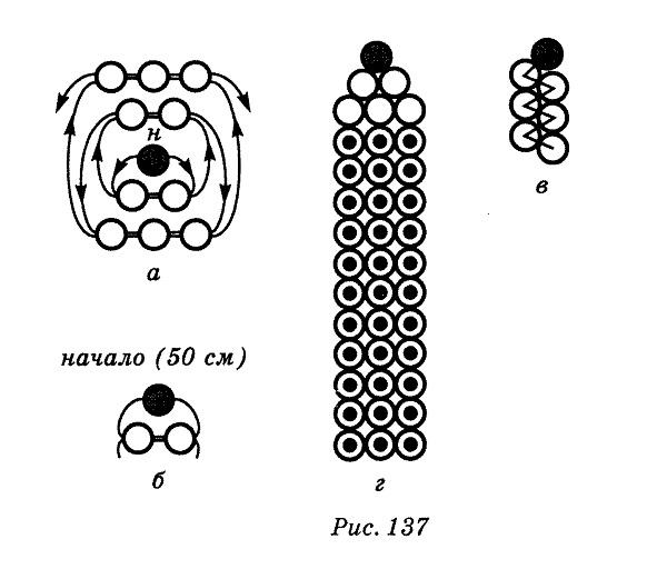 схема плетения карандаша из
