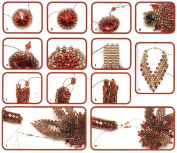 плетем красивое украшение из бисера