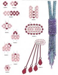 схема плетения синего галстука из кристаллов