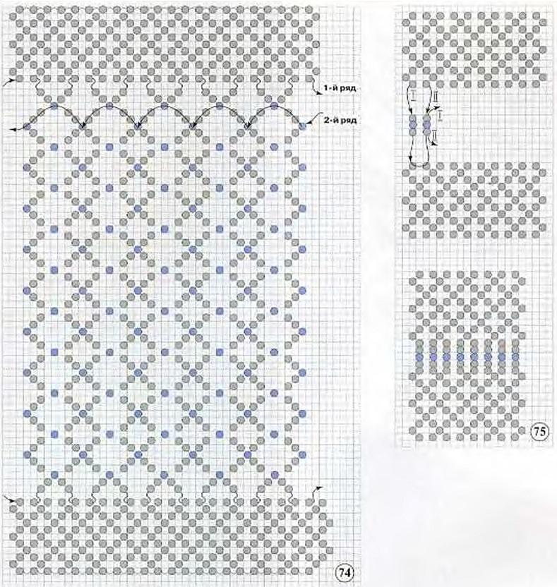 схема плетения чехла из