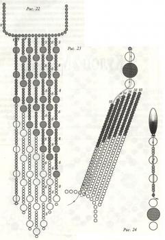схема кулона из черно-белого бисера