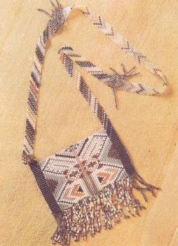 тканый кулон-ожерелье из бисера