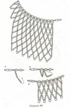 схема плетения воротника из стекляруса