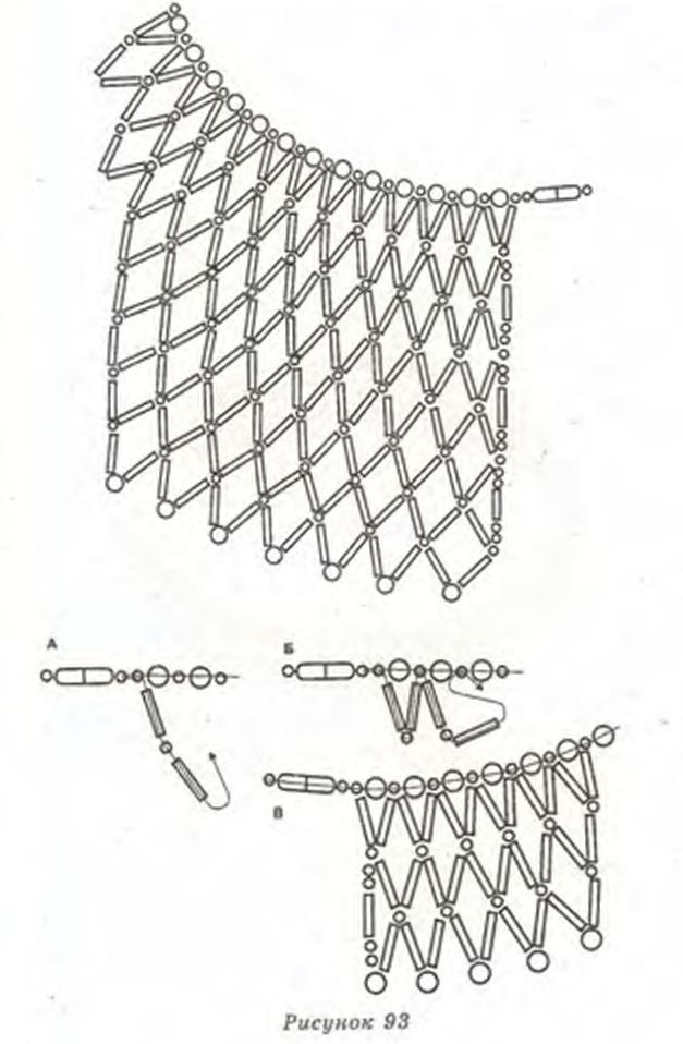 воротник из стекляруса. схема