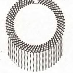схема круглого ожерелья из бисера