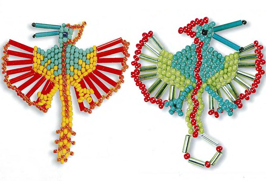 плетение птеродактиля из бисера