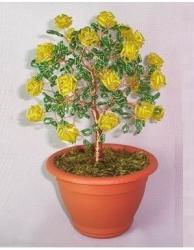 желтые розы из бисера и стекляруса