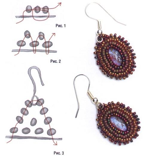 бисера - схема плетения.