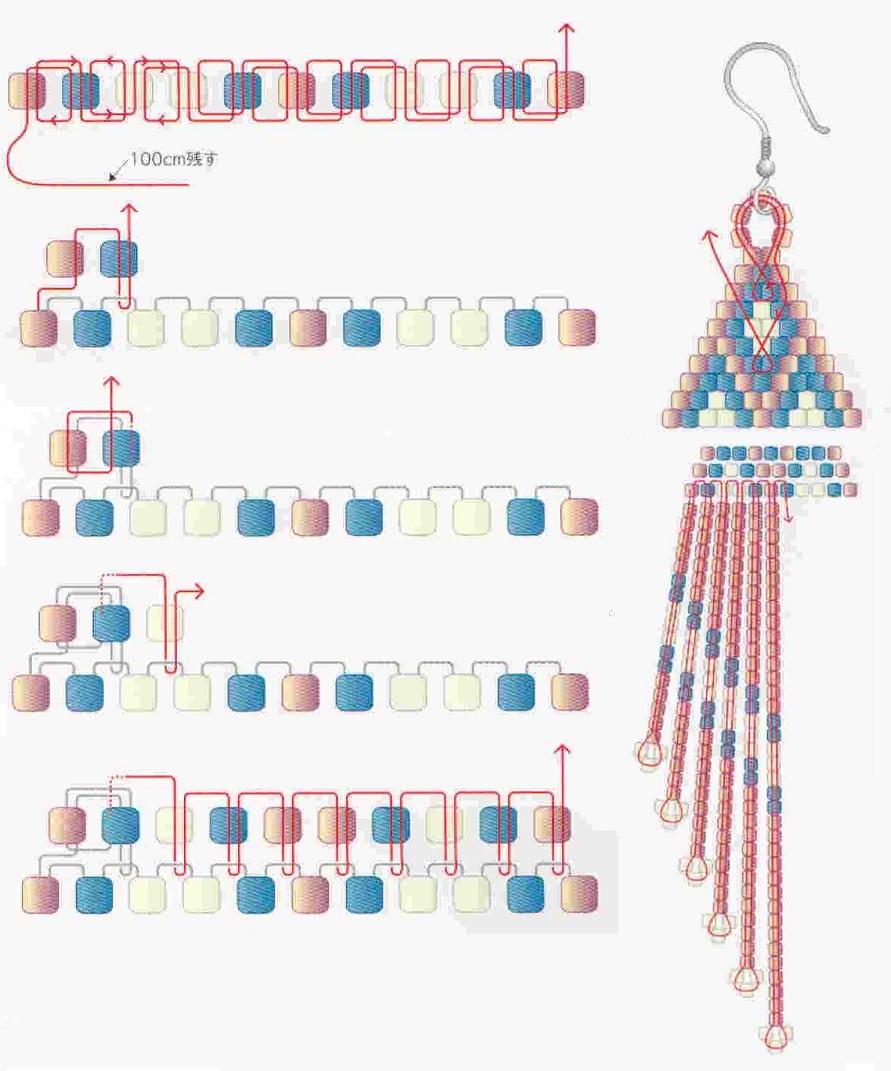 схема сережок з б серу