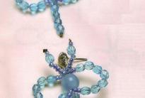 Голубые стрекозы из кристаллов