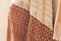 шарф с сеткой