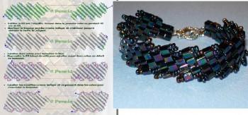 Схема плетения бралета из бисера.  Браслет.