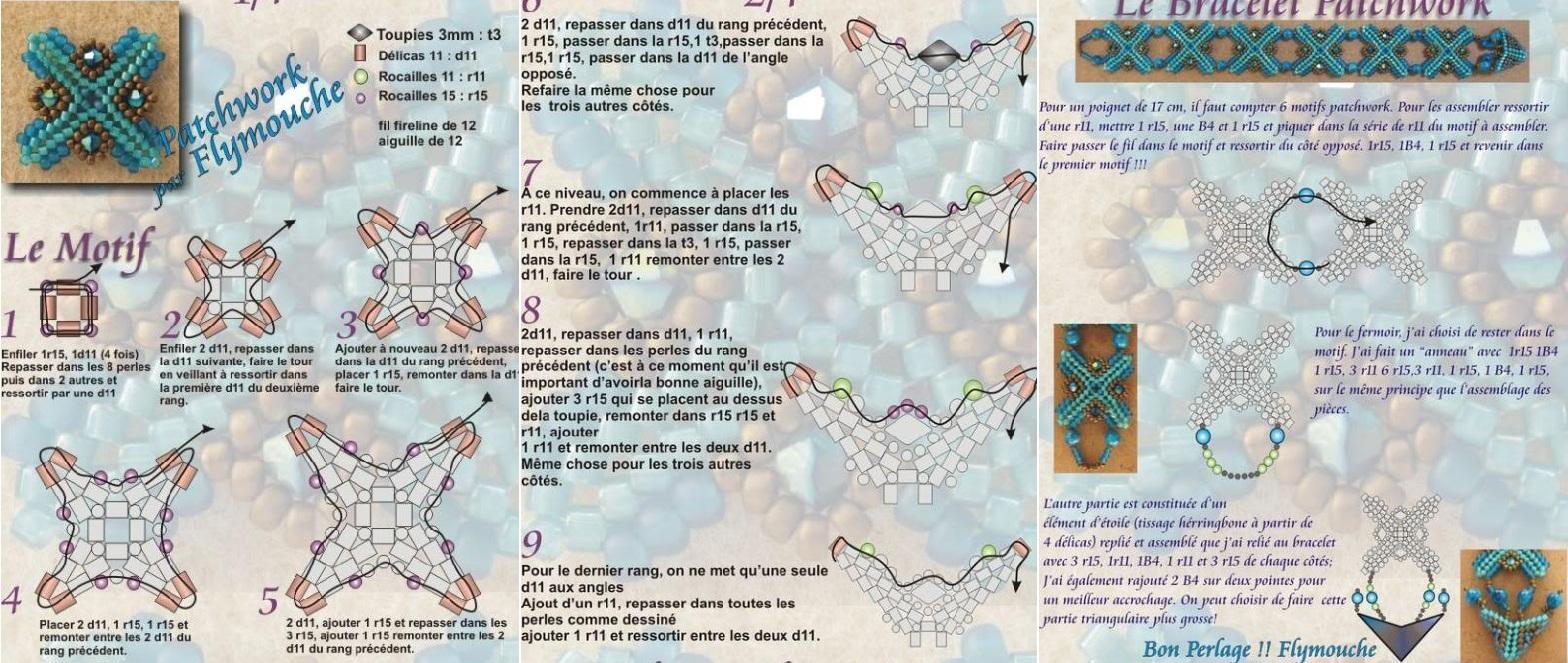Интересные браслеты с оригинальными узорами и орнаментами.  Подробные схемы для плетения браслетов из бисера и рубки...