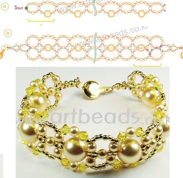 """На нашем сайте для девушек  """"Дамочка """" Вы всегда можете найти новость - схемы браслетов из бисера с большими бусинами..."""