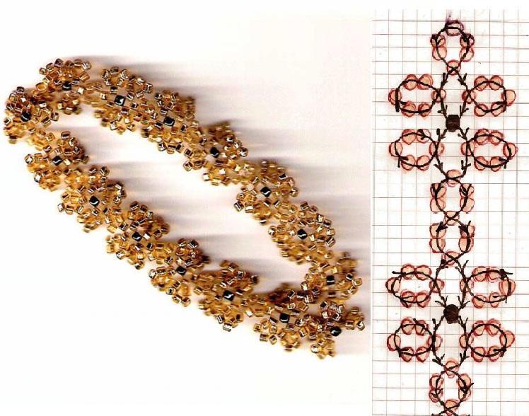 """Ажурная """" фенечка с... Большой выбор схем плетения браслетов из бисера.  Разные модели для любого стиля."""
