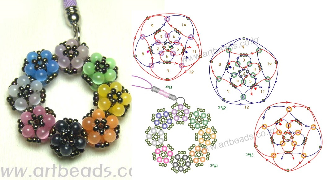 Необычные брелочки из разноцветного бисера.  Подробные схемы их плетения.  Пчела Материал, необходимы для...