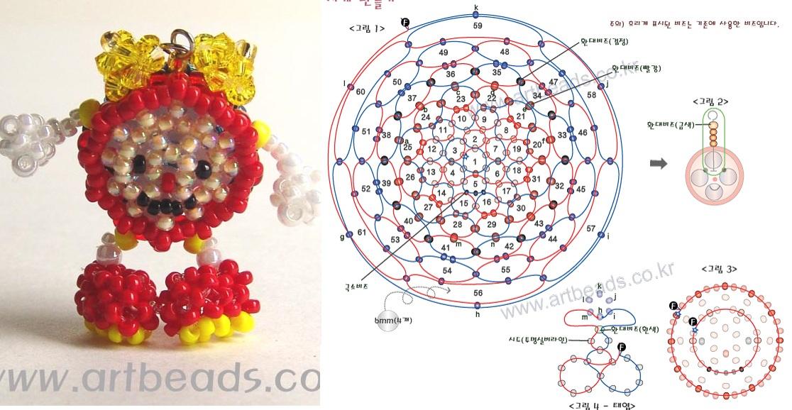 Приложение 5 плетение на леске: объемные игрушки животных из бисера, брелоки.  Цыпленок.